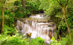 Waterfall located in deep forest of Thailand. Royalty Free Stock Photography
