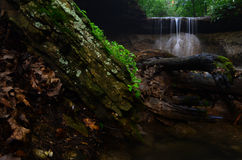 Waterfall. This waterfall is located on a trail behind our local college Stock Photos