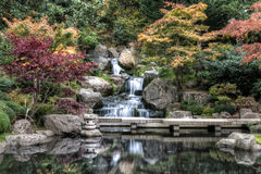 Waterfall in London in autumn Stock Photo