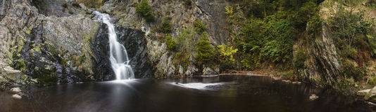 Waterfall Long Exposure Panorama Royalty Free Stock Photography