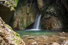Waterfall. Long exposure, Trentino Italy Stock Photos