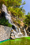 Waterfall in Loutraki, Greece Royalty Free Stock Photography