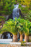 Waterfall in Loutraki, Greece. Nature travel background Stock Image