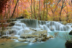 Waterfall lovely colorful. Stock Photos