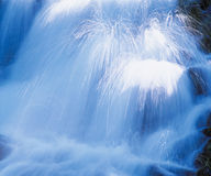 Waterfall low angle view Royalty Free Stock Photography