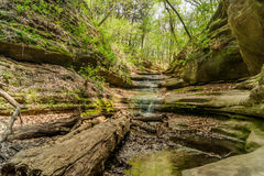 The waterfall in the Lower Dells. Stock Photo