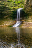 The waterfall in the Lower Dells. Royalty Free Stock Photo