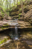 The waterfall in the Lower Dells. Royalty Free Stock Image