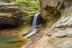 The waterfall in the Lower Dells. Stock Photos