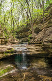 The waterfall in the Lower Dells. Stock Images