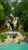 Tat kuang si waterfall stock photography