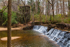 Waterfall in Lullwater Park, Atlanta, USA Royalty Free Stock Images