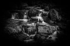 Waterfall in the Lumsdale Valley, Matlock, Derbyshire, Peak Dist Stock Photography