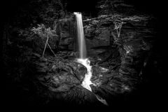 Waterfall in the Lumsdale Valley, Matlock, Derbyshire, Peak Dist Royalty Free Stock Photography