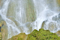 Waterfall in a lush rainforest. Beautiful waterfalls or cascades in El Nicho Stock Photo