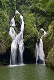 Waterfall in a lush rainforest. Royalty Free Stock Photography