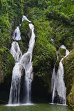 Waterfall in a lush rainforest. Royalty Free Stock Photos