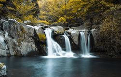 Waterfall in Lushan China. In long-time exposure Stock Photography