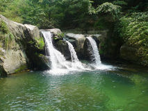 Waterfall in lushan mountains Royalty Free Stock Image
