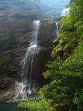 Waterfall in lushan mountains Stock Image