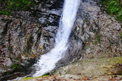 Waterfall at Lydford Gorge, Devon, England Royalty Free Stock Photos