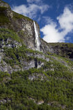 Waterfall in the Lysefjord Stock Photo