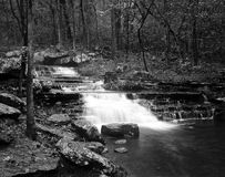 Waterfall. Majestic stairstep waterfall at Collins Creek Trailhead, Heber Springs, Arkansas Royalty Free Stock Photography