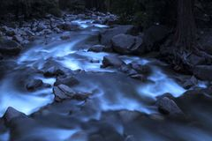 A waterfall of the majestic Yosemite royalty free stock photos