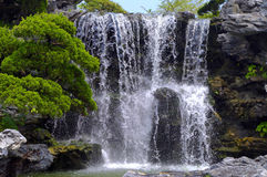 Waterfall. The waterfall make me feel cool in the summer Stock Photo