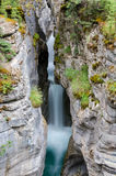 Waterfall in Maligne Canyon Stock Photography