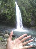 Waterfall. Is Waterfall In Malino As A Beautiful Tour Places Besides it we can also take a bath directly at the waterfall Stock Photo