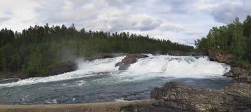 Waterfall Malselvfossen Stock Images