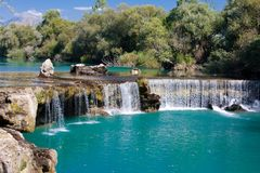 Waterfall Manavgat in Turkey royalty free stock image