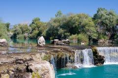 Waterfall Manavgat in Turkey. Spring waterfall Manavgat in Turkey Royalty Free Stock Images