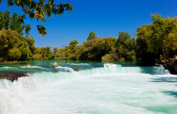 Waterfall Manavgat at Turkey Royalty Free Stock Images