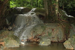 Waterfall in Manokwari. Waterfall on stones in jungle in city Manokwari - Papua Barat, Indonesia Stock Photos