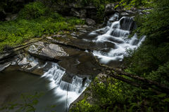 Waterfall - Manorkill Falls - Catskill Mountains, New York. A scenic view of the Manorkill waterfall in the Catskill Mountains region of New York stock photos
