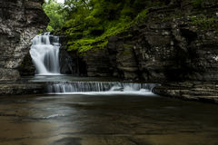 Waterfall - Manorkill Falls - Catskill Mountains, New York Royalty Free Stock Photos