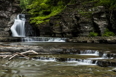 Waterfall - Manorkill Falls - Catskill Mountains, New York. A scenic view of the Manorkill waterfall in the Catskill Mountains region of New York stock images