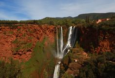 Waterfall in Marocco Royalty Free Stock Photo