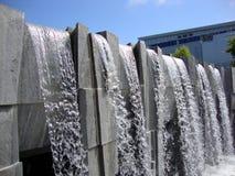 Waterfall at Martin Luther King, Jr. Memorial at Yerba Buena Gardens. San Francisco - July 11, 2010: Waterfall at Martin Luther King, Jr. Memorial at Yerba Buena stock photo