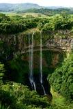Waterfall on Mauritius. Asia landskape royalty free stock photo