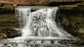 Waterfall on McCormick`s Creek Loop stock footage