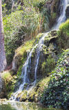 Waterfall in the meditation Garden in Santa Monica, United States. Park of five religions at the lake Shrine, landscape Royalty Free Stock Image