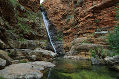 Waterfall in Meiringspoort Pass Royalty Free Stock Photo