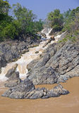 Waterfall on the Mekong River Stock Images