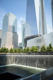 Waterfall Memorial Plaza vertical Royalty Free Stock Image