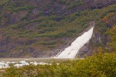 Waterfall at Mendenhall Glacier Royalty Free Stock Photo