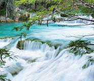 Waterfall in Mexico stock photography