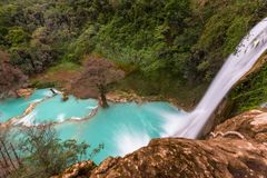Waterfall in Mexico royalty free stock photo
